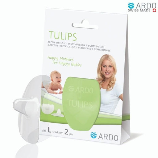 Ardo 2 Pack Tulips Nipple Shields Large (24mm) | Baby Box | NZ Baby Shop