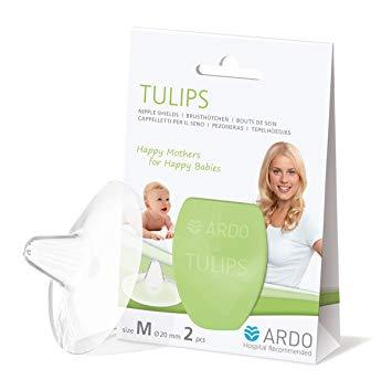 Ardo 2 Pack Tulips Nipple Shields Medium (20mm) | Baby Box | NZ Baby Shop