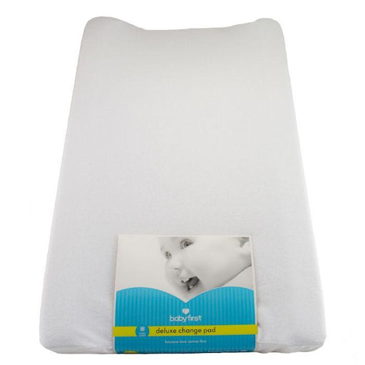 Baby First Deluxe Change Pad - White Terry Cloth - Baby Box, NZ Baby Shop
