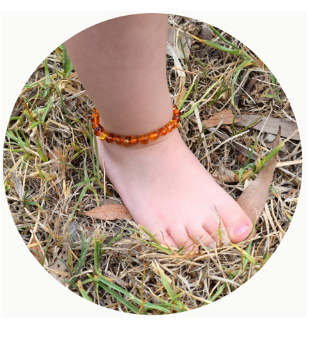 Bambeado Baby Amber Bead Anklet | Baby Box | NZ Baby Shop