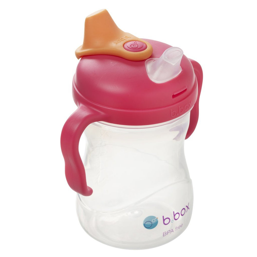 b.box Spout Cup - Raspberry | Baby Box | NZ Baby Shop