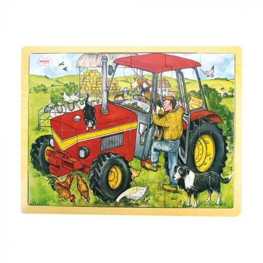 Big Jigs - 24 piece puzzle tray - tractor | Baby Box | NZ Baby Shop