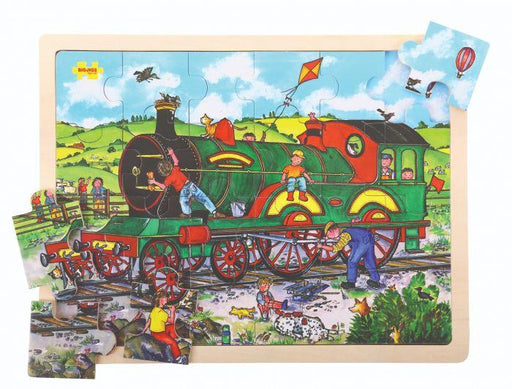 Big Jigs - 24 piece puzzle tray - Train | Baby Box | NZ Baby Shop
