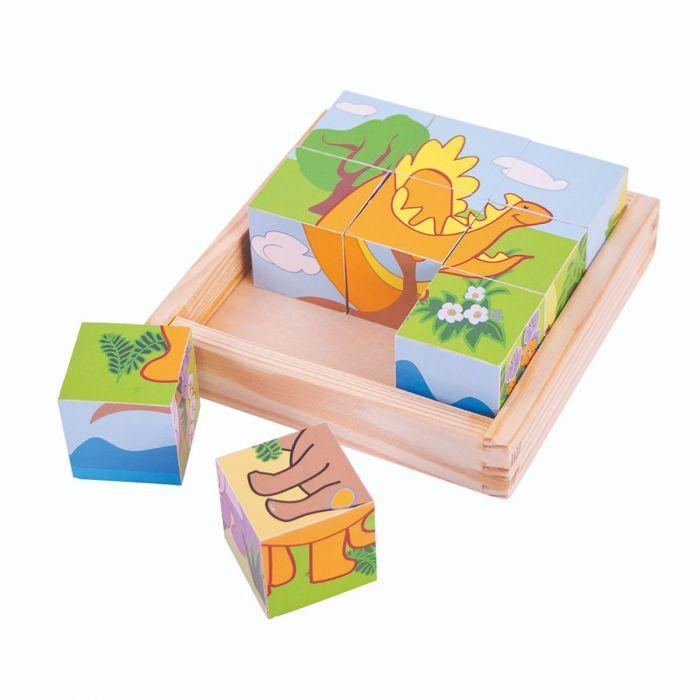 Big Jigs Dinosaur Cube Puzzle | Baby Box | NZ Baby Shop