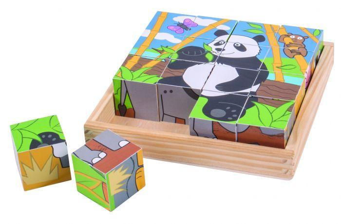 Big Jigs Wild Animal Cube Puzzle | Baby Box | NZ Baby Shop