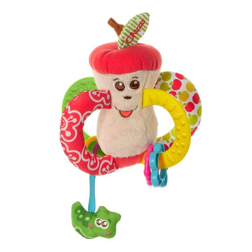 Chicco - Easy to Grip Apple Textile Rattle | Baby Box | NZ Baby Shop