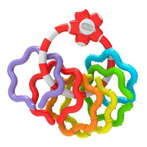 Chicco Plastic Rings Rattle | Baby Box | NZ Baby Shop