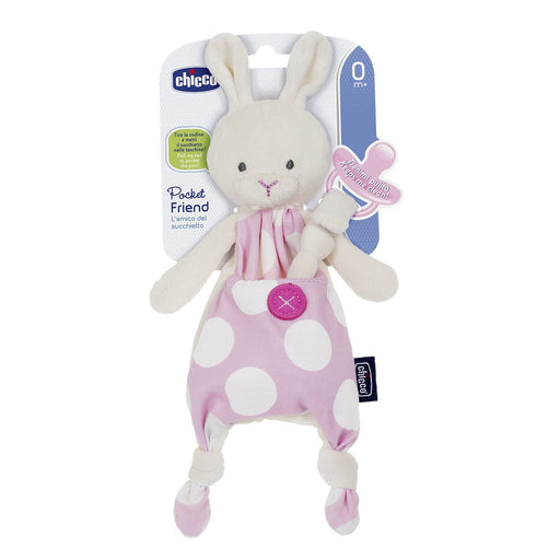 Chicco Pocket Friend Dummy Holder - Pink | Baby Box | NZ Baby Shop