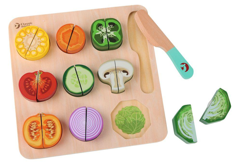 Classic World Cutting Vegetable Puzzle | Baby Box | NZ Baby Shop