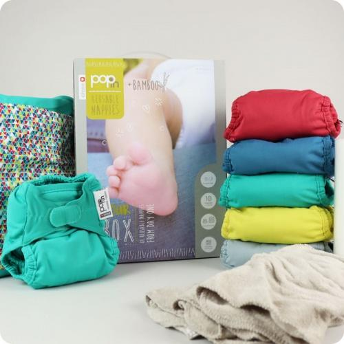 Close Pop-In Bamboo Bright Nappies 10 pack | Baby Box | NZ Baby Shop