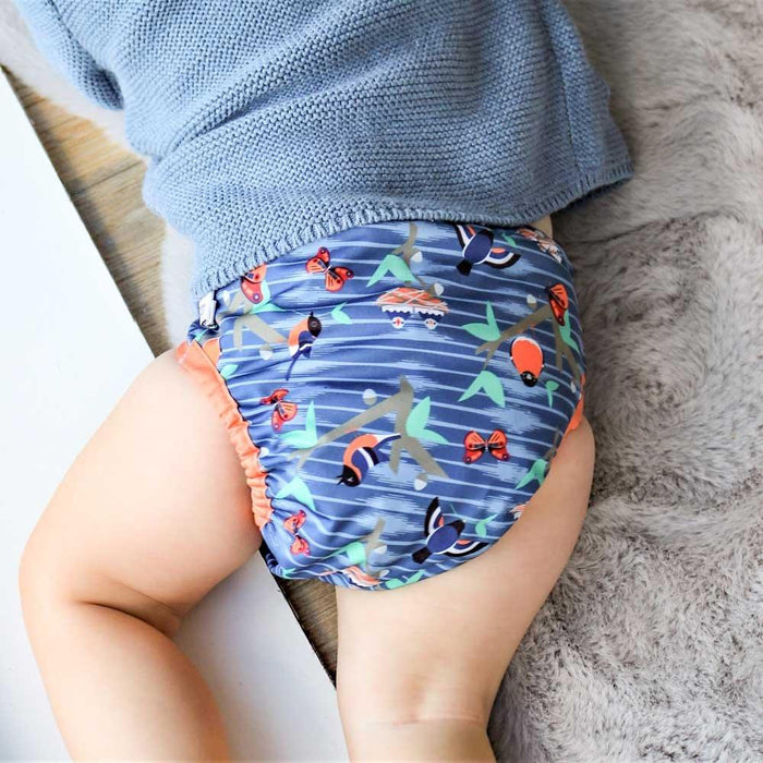 Close Pop-In Bamboo Cloth Nappy - Twilight Garden | Baby Box | NZ Baby Shop