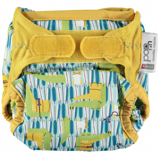 Close Pop-In Bamboo Nappy - Crocodile | Baby Box | NZ Baby Shop