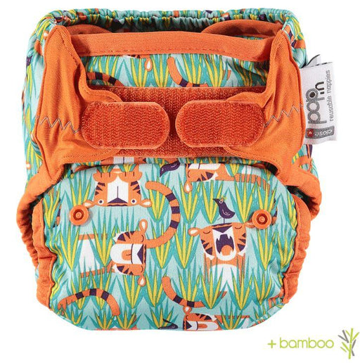 Close Pop-In Bamboo Nappy - Tiger | Baby Box | NZ Baby Shop