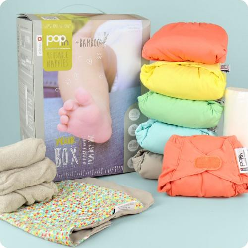 Close Pop-In Bamboo Pastel Nappies 10 pack | Baby Box | NZ Baby Shop