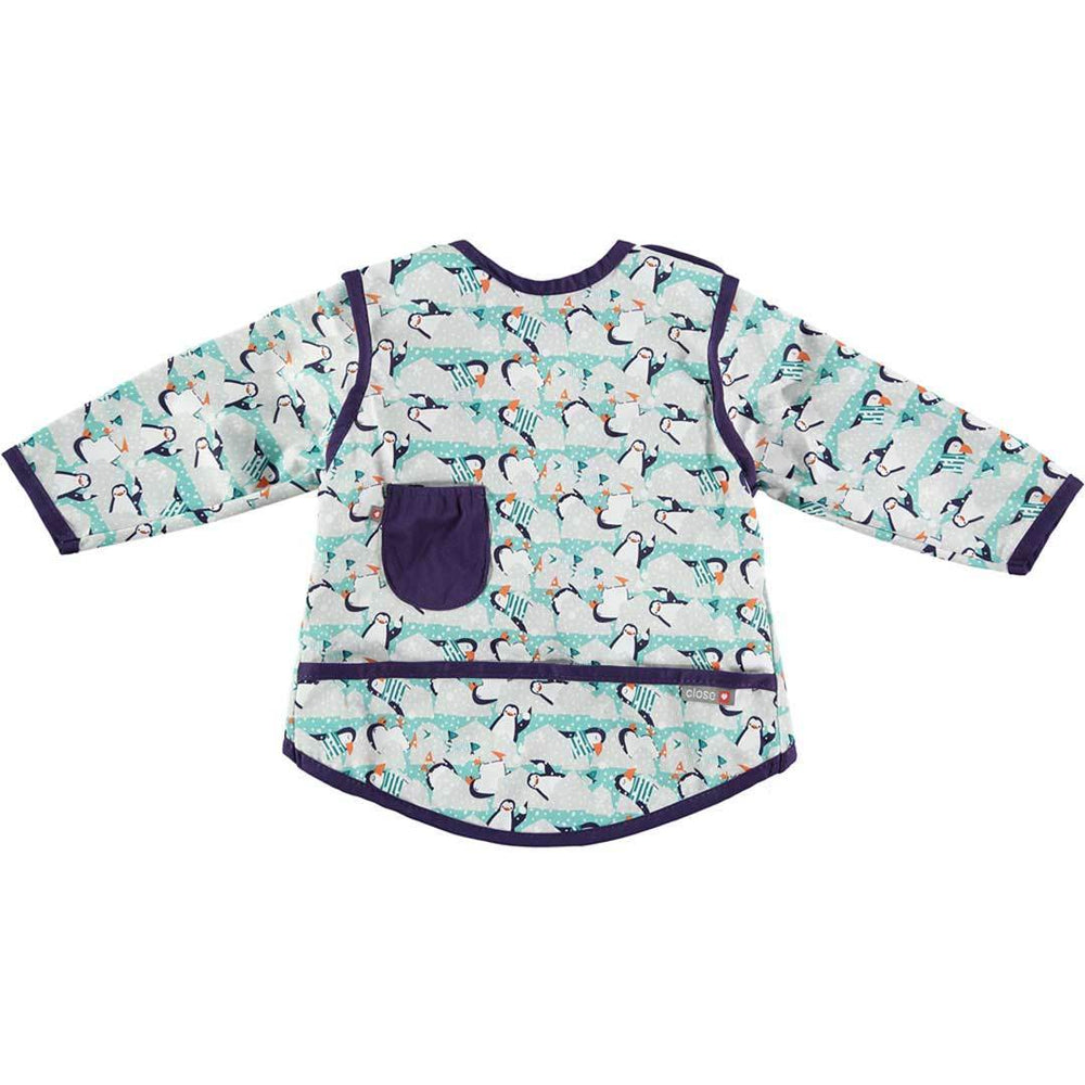 Close Pop-In Coverall Bib - Winter Penguin - 6 to 18 Months | Baby Box | NZ Baby Shop