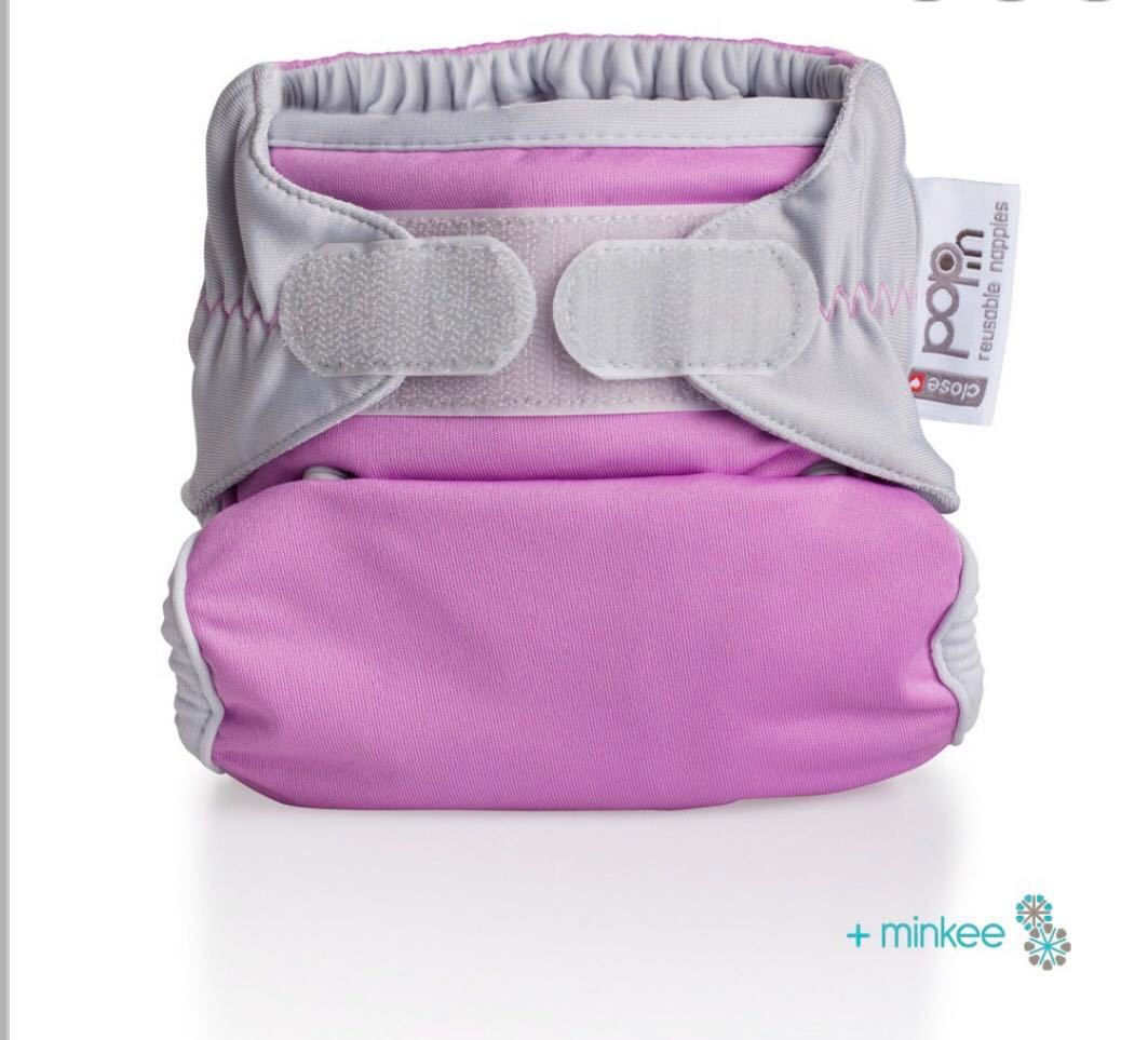 Close Pop-In Minkee Nappy - Princess Pink | Baby Box | NZ Baby Shop