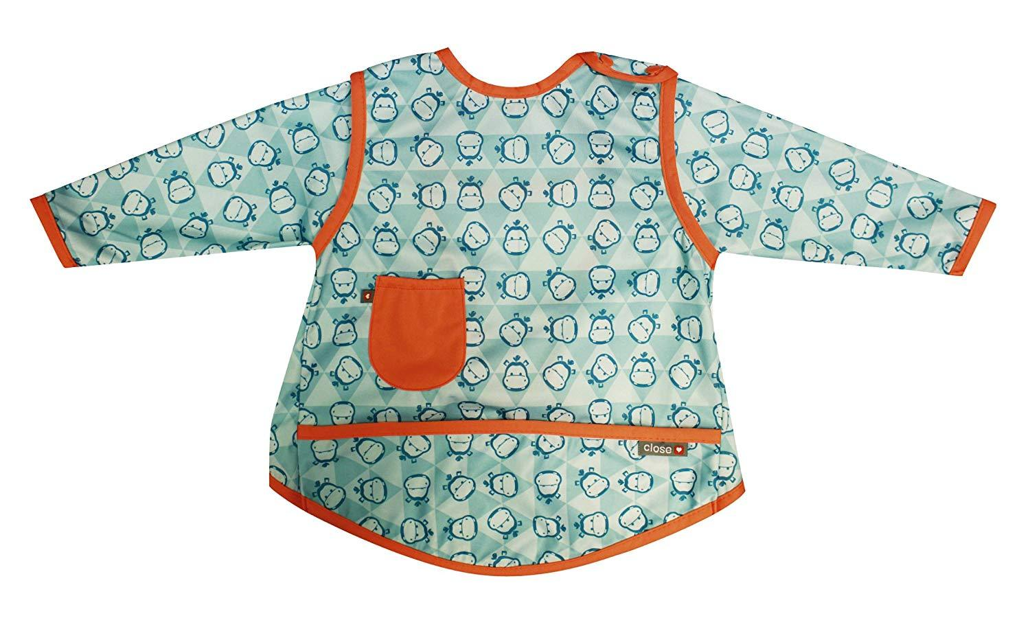 Close Pop-In Stage 3 Coverall Bib - Hippo | Baby Box | NZ Baby Shop