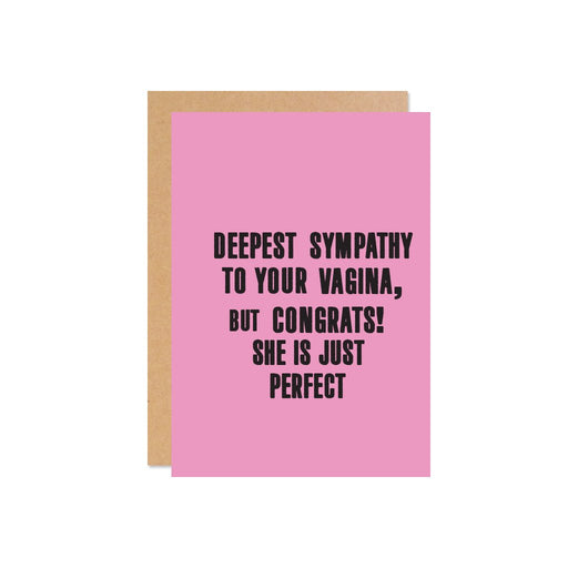 """Deepest Sympathies To Your Vagina"" Gift Card 