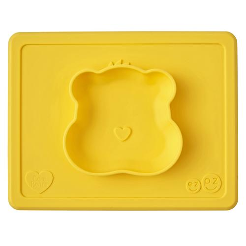 EzPz Care Bears Bowl & Mat - Funshine Marigold | Baby Box | NZ Baby Shop
