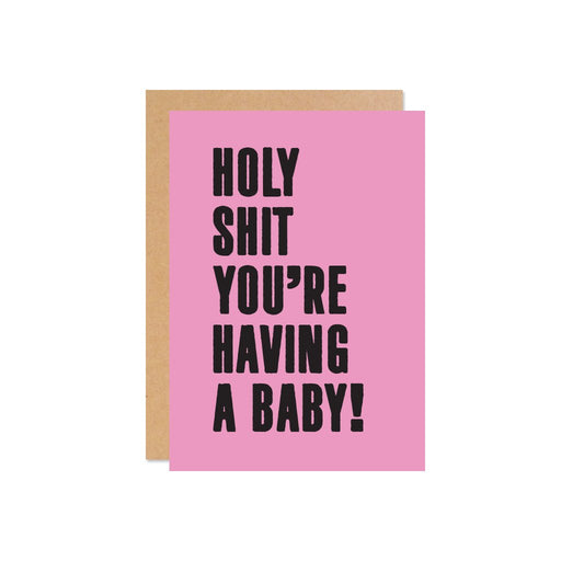 """Holy Shit You're Having a Baby!"" Gift Card 