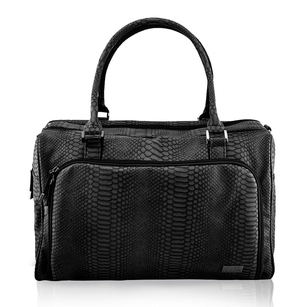 Isoki Double Zip Satchel - Black Mumba | Baby Box | NZ Baby Shop