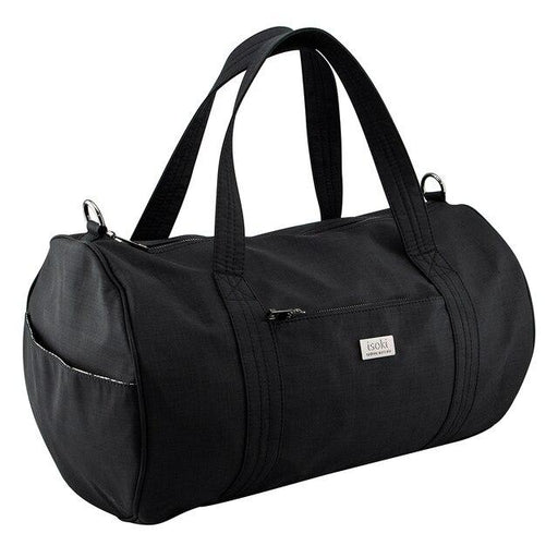 Isoki Kingston Duffel Bag - Nylon Black | Baby Box | NZ Baby Shop