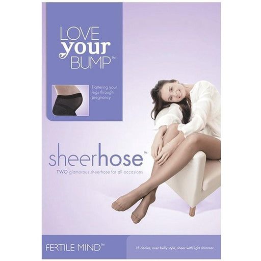 Love Your Bump Sheer Maternity Pantyhose - Nude | Baby Box | NZ Baby Shop
