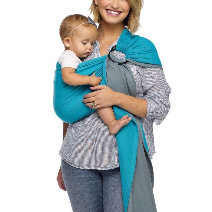 Moby Ring Sling Baby Carrier - Ocean Twist | Baby Box | NZ Baby Shop