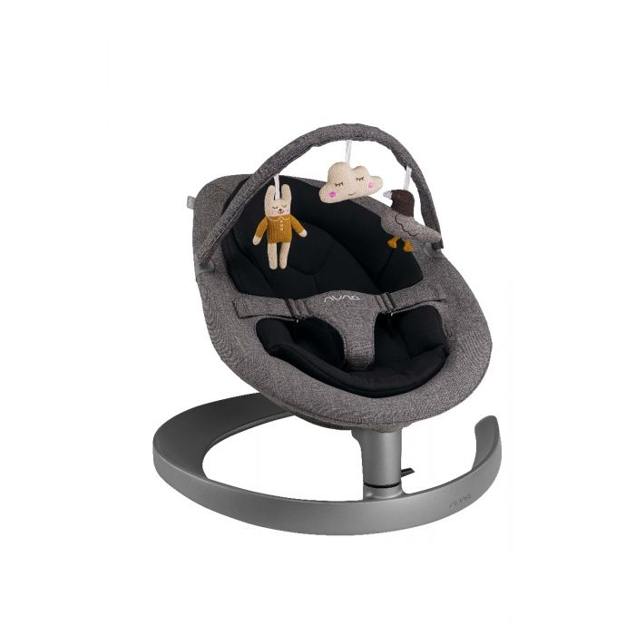 Nuna Leaf Grow Bouncer with Toybar - Charcoal | Baby Box | NZ Baby Shop