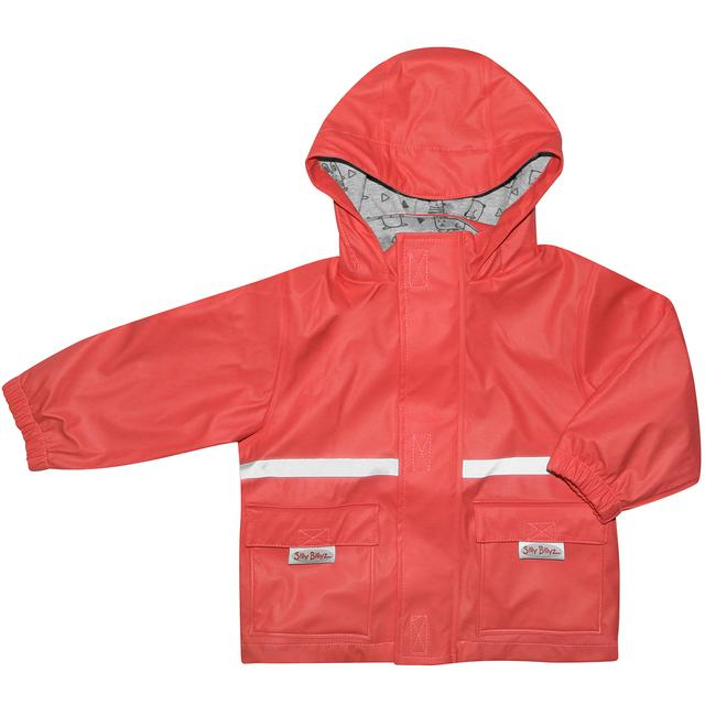 Silly Billyz Red Waterproof Rain Jacket | Baby Box | NZ Baby Shop