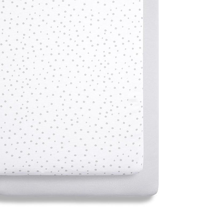 Snuzpod Crib Bedding Set - 2 Pack - Grey Spots | Baby Box | NZ Baby Shop