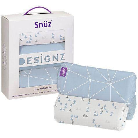 Snuzpod Crib Bedding Set - 3 Pack - Geo Breeze | Baby Box | NZ Baby Shop
