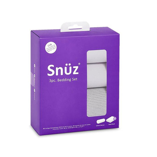 Snuzpod Crib Bedding Set - 3 Pack - Grey | Baby Box | NZ Baby Shop