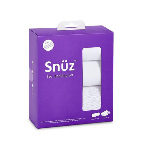 Snuzpod Crib Bedding Set - 3 Pack - White (Cellular Blanket) | Baby Box | NZ Baby Shop