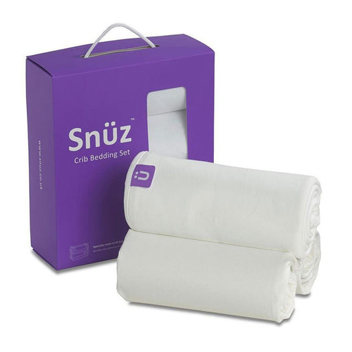 Snuzpod Crib Bedding Set - 3 Pack - White (Jersey) | Baby Box | NZ Baby Shop