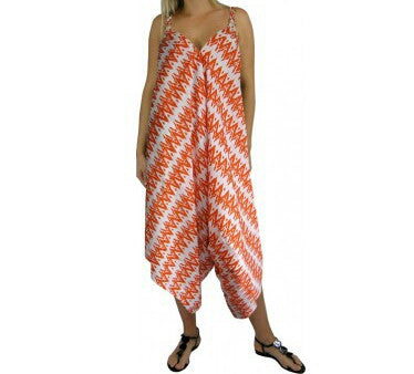 Chevron Jumpsuit Orange