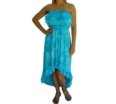 Youth Melody Tie Dye Dress Blue