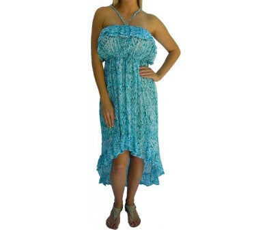 Youth Melody Feathers Dress Aqua