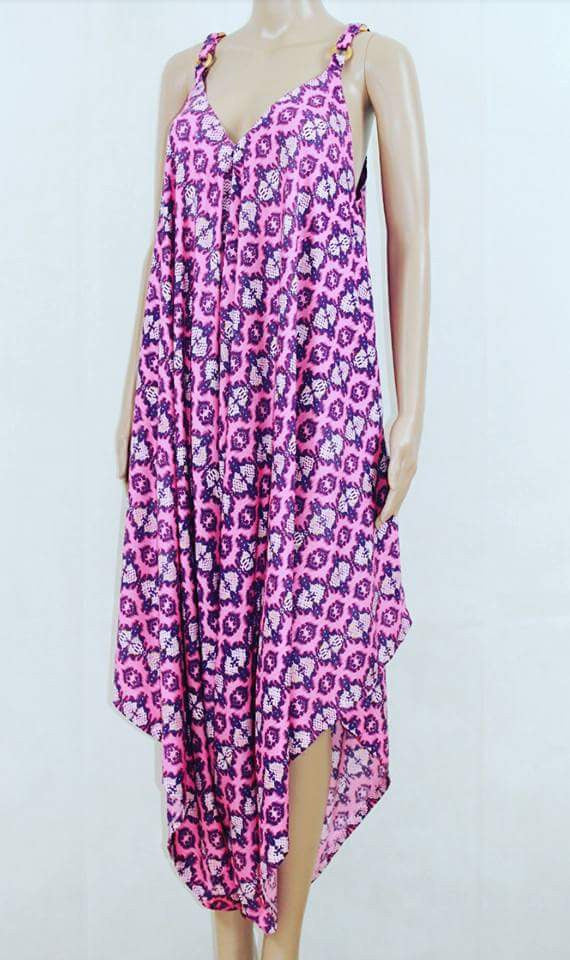 Puzzle Jumpsuit Pink & Purple