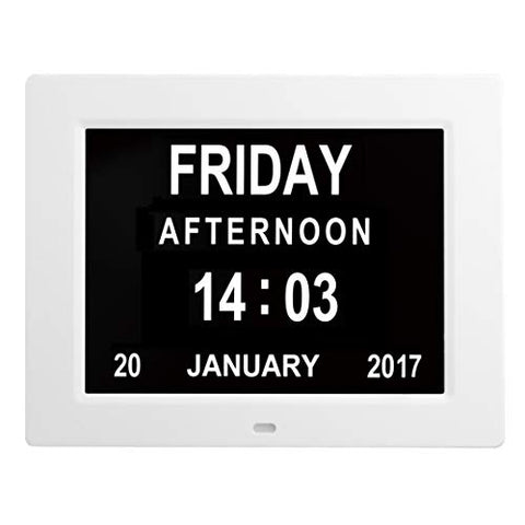 Extra Large Digital Calendar Day Clock