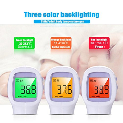 Image of No Touch Forehead Digital Thermometer Infrared Body Temperature