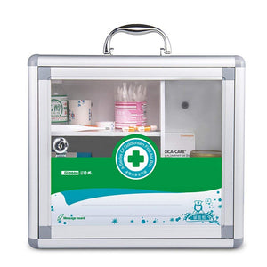 Locking Medicine Cabinet Wall Mounted and Portable Storage Container Big Capacity