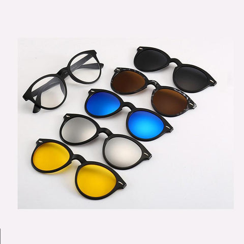 Magnetic Clip On Sunglasses Snap-On Polarized Sunglasses