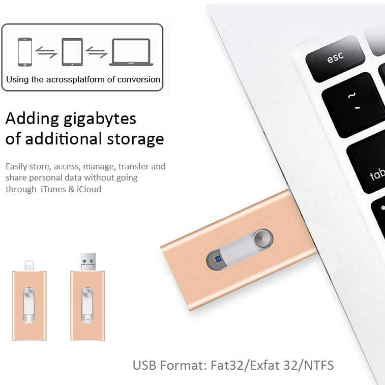 Flash Drive for Iphone IOS Flash Drive Memory Stick, 16GB