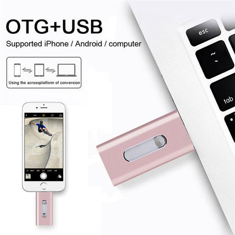 Image of Flash Drive for Iphone IOS Flash Drive Memory Stick, 16GB