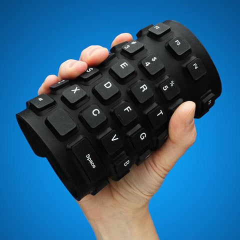 Flexible Roll Up Keyboard Foldable Portable Bluetooth Wireless