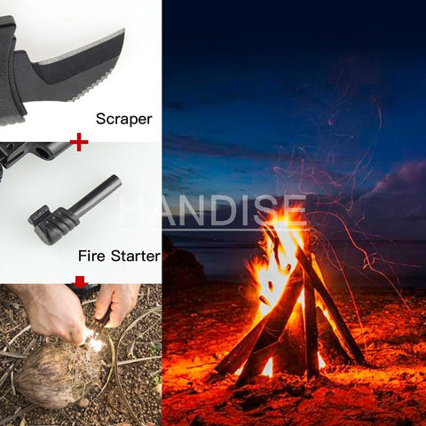 Image of Outdoor Survival Bracelet | Compass | Whistle | Knife | Flint
