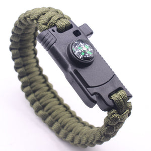Outdoor Survival Bracelet | Compass | Whistle | Knife