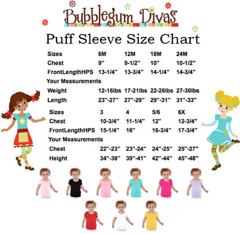 Puff Sleeve Size Chart