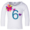 Long Sleeve 6th Birthday Shirt